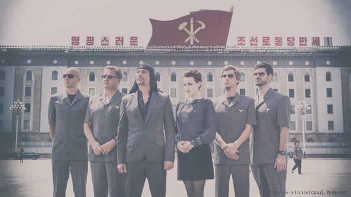Laibach foi a primeira banda ocidental a tocar na Coréia do Norte. Créditos da Foto.
